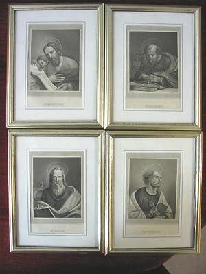 Folge v. 4 Heiligenporträts (St. Matthäus; St. Marcus; St. Lucas;St. Petrus).: Heilige.