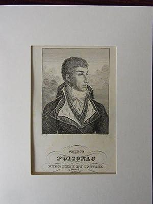 Prince Polignac. President du Conseil depose 28 Jullet 1830.