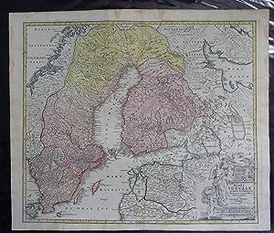 Regni Sueciae im omnes suas subjacentes Provincias accurate divisi Tabula generalis.: Schweden -