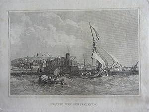 Stahlstich um 1830.: Neapel von der Seeseite.