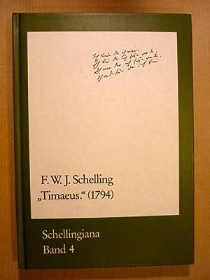 Schelling, F. W. J.] Timaeus (1794). Mit: Schelling, F. W.