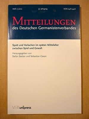 Spott und Verlachen im späten Mittelalter zwischen Spiel und Gewalt (Mitteilungen des Deutschen ...