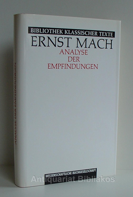 Bildergebnis für 'Analyse der Empfindungen' by Ernst Mach