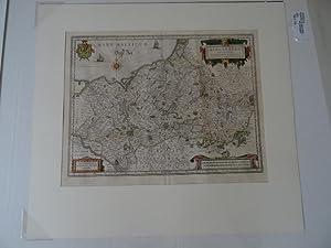 Meklenburg - Ducatus. Große prachtvoll kolorierte Kupferstich-Karte,: Ohne Autorenangabe:
