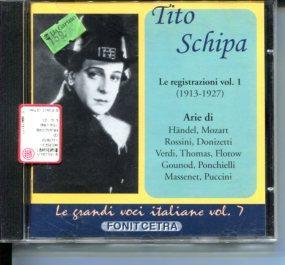 Tito Schipa - Le registationi vol 1: Händel, Mozart, Donizetti