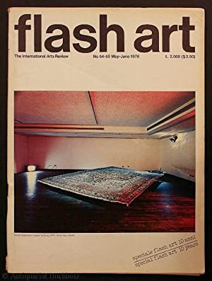 flash art. International Review of Arts. No 64-65 May-June 1976 (special flash art 10 years)