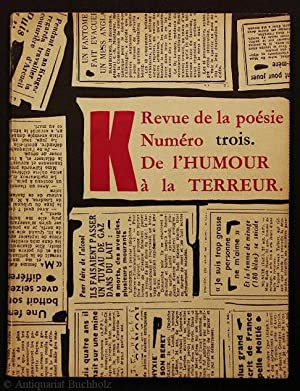 La revue de la poésie. Numéro trois.: Schwitters, Kurt