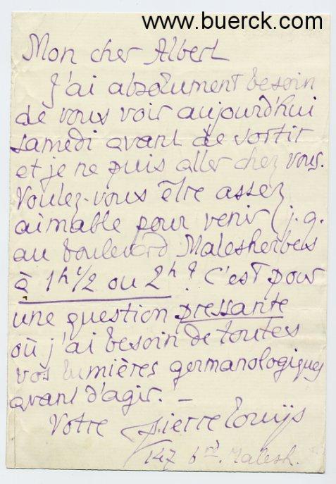 Französische Handschrift Auf Zvab