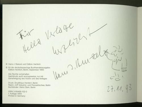 Israel. Seine Geschichte. Erzählt und gezeichnet von Hans J. Stenzel. Mit gelb/schwarz&#...