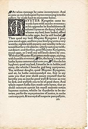 The Life of Thomas Wolsey, Cardinal Archbishop of York. [Probedruck aus / Proof of]. Seven six-li...