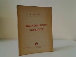 Ökonomische Aufsätze.: Marx, Karl: