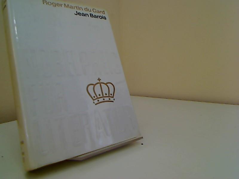 Jean Barois Nobelpreis für Literatur 1937 Band: Gard Roger Martin