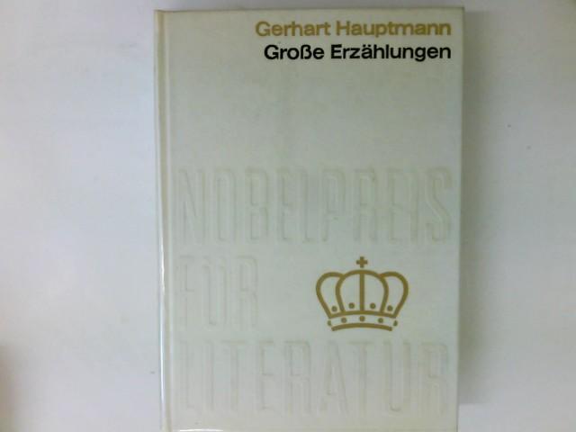 Große Erzählungen: Hauptmann, Gerhart.: