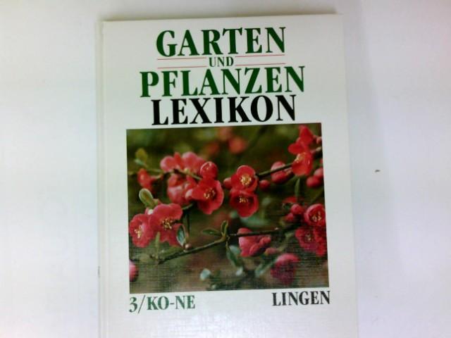 Garten  Und Pflanzen Lexikon 3/KO   NE