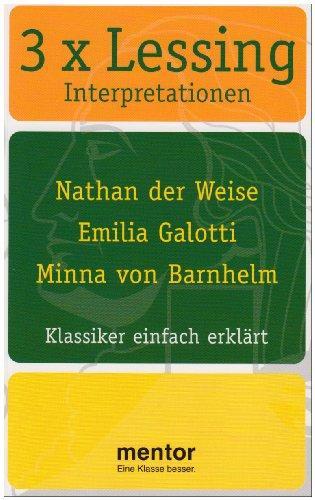 3 x Lessing : Klassiker einfach erklärt: Rahner, Thomas, Gotthold