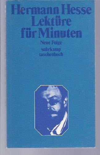 Lekt|re f|r Minuten Neue Folge: Hermann Hesse::