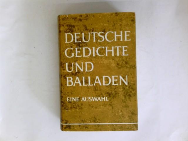 Deutsche Gedichte Und Balladen Eine Ausw Von Riegler
