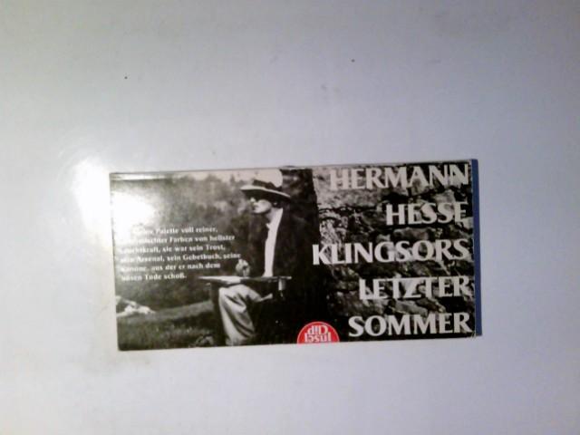 Klingsors letzter Sommer : Erzählung. Insel-Clip ;: Hesse, Hermann: