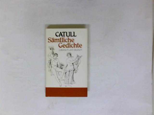 Sämtliche Gedichte Lateinisch Deutsch