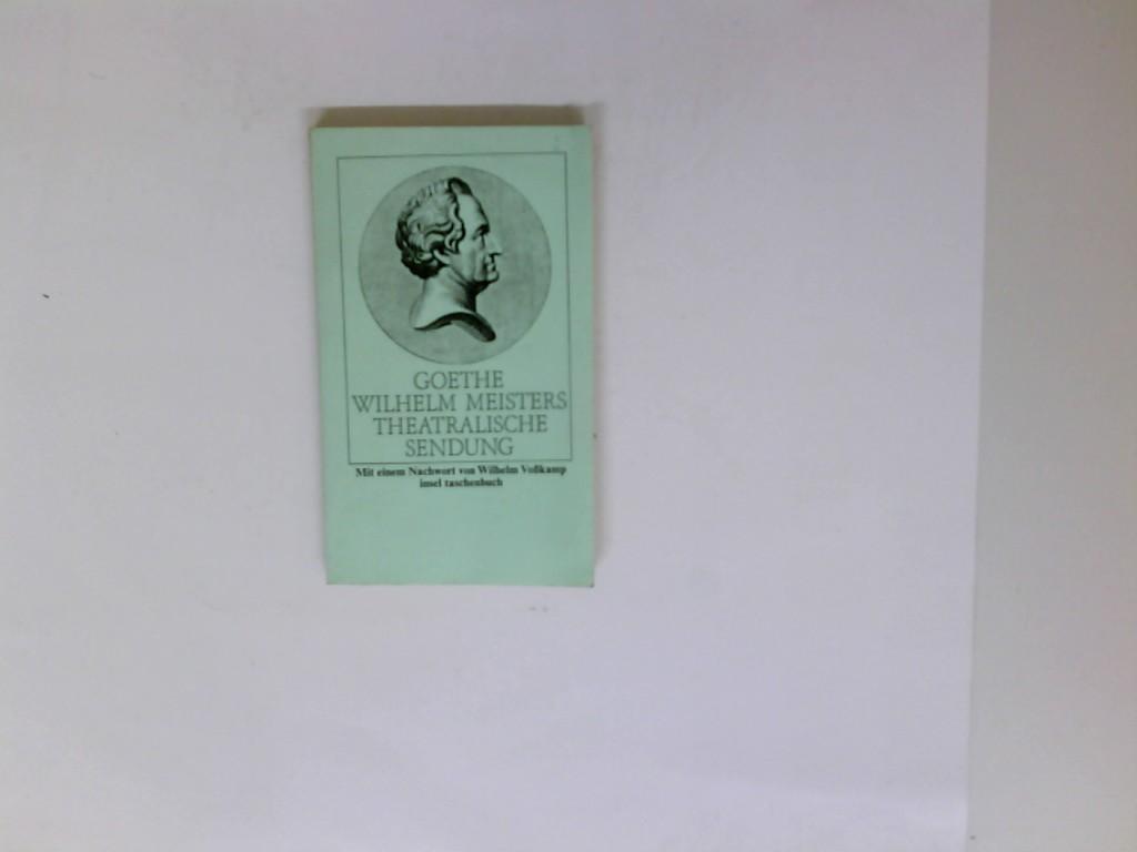 Wilhelm Meisters theatralische Sendung. Goethe. Mit e.: Goethe, Johann Wolfgang