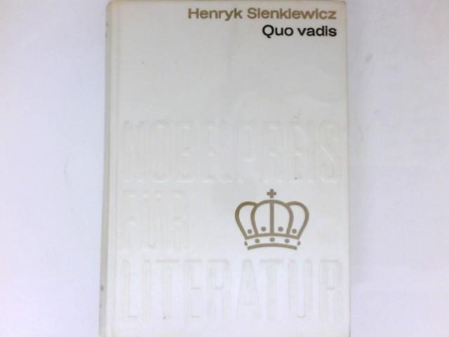 Quo vadis? : Roman. Übers.: Richard Zoozmann.: Sienkiewicz, Henryk: