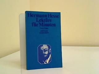 Lektüre für Minuten: Hesse, Hermann: