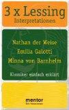 3 x Lessing : Klassiker einfach erklärt: Rahner, Thomas Lessing