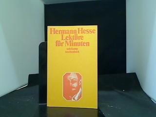 Lektüre für Minuten Suhrkamp-Taschenbuch ; 7 1.: Hesse, Hermann: