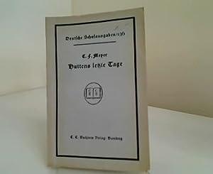 Huttens letzte Tage - Eine Dichtung. Einführung und Erläuterungen von Dr. Leo Krell (Deutsche Schulausgaben Nr. 136)
