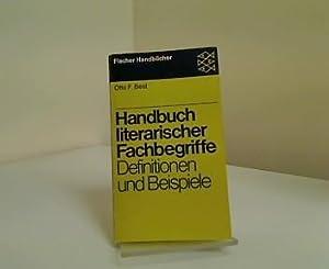 Handbuch literarischer Fachbegriffe : Definitionen u. Beispiele.: Best, Otto F.: