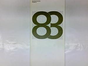 Deutsche Keramiker-Gruppe 83 (Dreiundachtzig), 1. Ausstellung im: Austellungskatalog: