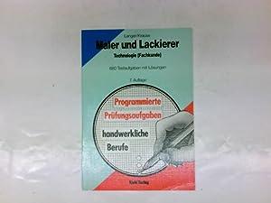 Maler und Lackierer, Technologie (Fachkunde) : 880: Langer, Heinz und