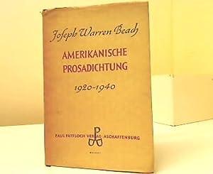 Amerikanische Prosadichtung 1920 - 1940. Joseph Warren: Beach, Joseph Warren