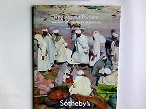 Sotheby's: Regards Sur L'Orient, Tableaux et Sculptures: Sotheby's: