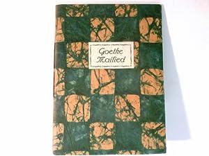 Mailied : Radiert von A. Johannes. Miniatur: Goethe: