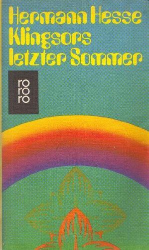 Klingsors letzter Sommer und andere Erzählungen. e: Hess, Hermann: