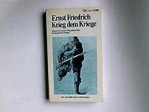 Krieg dem Kriege! = Guerre à la: Friedrich, Ernst: