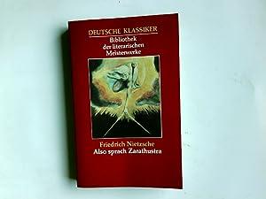 Deutsche Klassiker Bibliothek der literarischen Meisterwerke. also: Nietzsche, Friedrich: