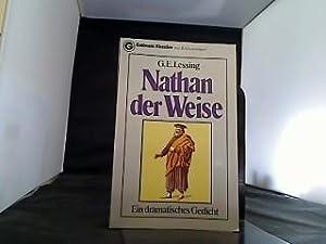 Nathan, der Weise Ein dramatisches Gedicht.: Lessing, Gotthold Ephraim: