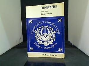 Gesang-Verein Einigkeit 1881 - Fahnenweihe anl. 90.