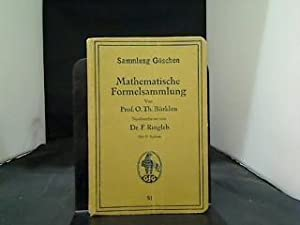 Mathematische Formelsammlung mit 37 Figuren 51: Bürklen, Th. -