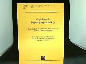 Digitalsignal-Übertragungstechnik (I), Grundlagen - Begriffe und Definitionen: Benzing, H. und