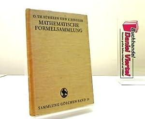 Mathematische Formelsammlung. O. Th. Bürklen, Sammlung Göschen: Bürklen, Otto Th.