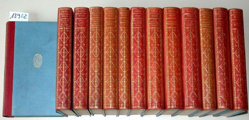 Schillers sämtliche Werke (in zwölf Bänden) (Und): Schiller, Friedrich von;