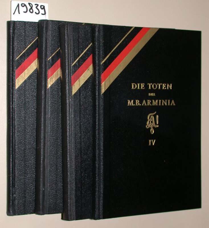Die Toten der Marburger Burschenschaft Arminia. Erster: Bonnet, Rudolf: