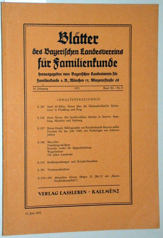 Blätter des Bayerischen Landesvereins für Familienkunde. -: Schrenck-Notzing, Niklas Frhr.