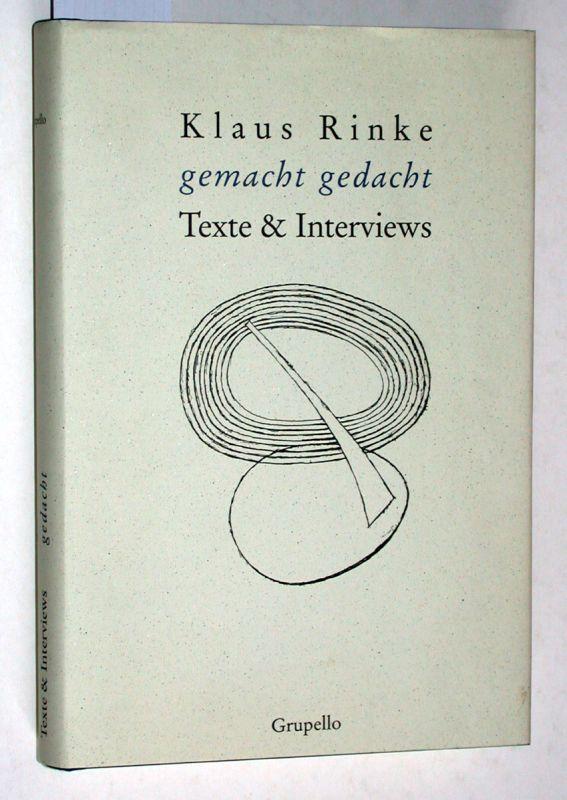 Klaus Rinke : gemacht gedacht ; Texte: Rinke, Klaus: