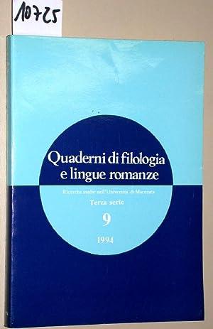 Quaderni di filologia e lingue romanze. Ricerche: Latini, Giulia Mastrangelo:
