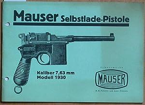 Mauser Selbstlade-Pistole Kaliber 7,63 mm - Modell: Mauser-Werke:
