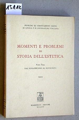 Momenti e problemi di storia dell'estetica. Parte: Puppo; Huisman; Plebe;